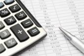 Financial statements — Stock Photo