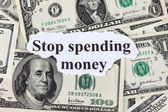 Stop spending money — Stock Photo