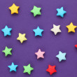 Colorful origami lucky stars — Stock Photo #65369277