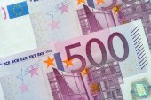 Five Hundred Euro Banknotes — Stock Photo