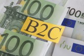 B2C on European Union Currency (Business to Customer) — Stock Photo