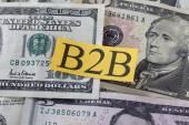 B2B on Dollar Bills (Business to Bisness) — Stock Photo