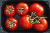 Fresh organic tomatoes — Stock Photo