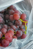 Red grapes in a plastic bag — Stock Photo