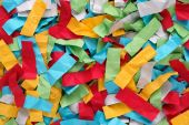 Crumpled colorful pieces of paper — Stock Photo