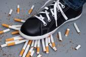 Enough! Man trying to give up smoking — Stock Photo