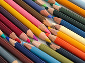 Lot of colored pencils — Stock Photo