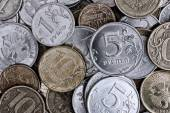 Heap of russian coins — Stock Photo