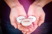 Faith, Hope and Love — Stock Photo