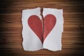 Broken paper heart — Stock Photo