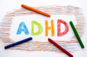 ADHD written on sheet of paper — Stock Photo