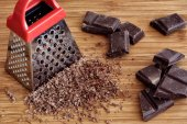 Grated chocolate — Foto de Stock