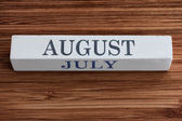 August and July months — Stock Photo