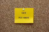 Get flu shot — Stock Photo