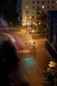 Night crossroad — Stock Photo