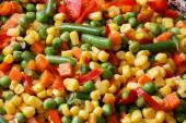 Closeup fried mixed vegetables — Stock Photo