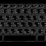Computer thai alphabet keyboard with illuminated backlight. — Stock Photo #65637091