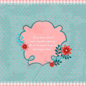 Vintage abstract card background with splashes, laces and flowers. Vector illustration — Stock Vector