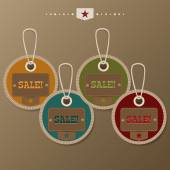 Collection of sale tags. Vector illustration — Stock Vector