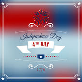 Independence Day 4th July abstract party background. Vector — Stock Vector