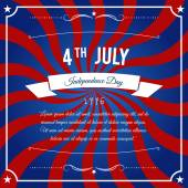Independence Day 4 th july abstract party background — Stock Vector