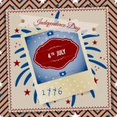 Independence Day 4 th july abstract party background. Vector — Stock Vector