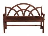 Drewniane ławki na białym tle — Zdjęcie stockowe