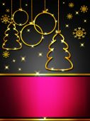 Christmas greeting card, elegant — Foto de Stock