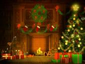 Christmas Eve illustration in retro style — Stock Photo