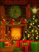 Christmas background in vintage style — Stock Photo