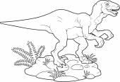 Velociraptor — Vettoriale Stock
