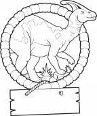 Parasaurolophus — Stock Vector