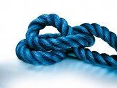 Sailor knot on white — Stock Photo