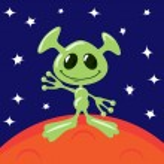 Alien on Mars — Stock Vector #62431463