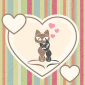 Cats in love — Stockvector