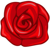 Red rose — Stock Vector