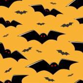 Sömlös flygande fladdermöss — Stockvektor