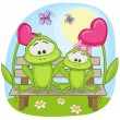 Lovers Frogs card — Stock Vector #63089225