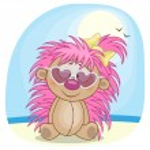 Hedgehog in sunglasses — Stock Vector #63276247