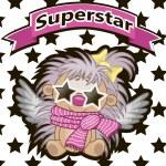 Superstar Hedgehog with star glasses — Stock Vector #63276623