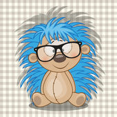 Happy  Hipster Hedgehog — Vettoriale Stock
