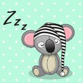Lindo Koala adormecido — Vetor de Stock