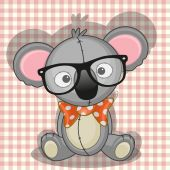 Cute Hipster Koala — Stock Vector