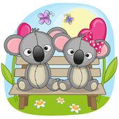 Two Lovers Koalas — Stock Vector