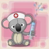 Cute Koala nurse — Stockvector