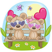 Cute  Lovers Mouse — Stock Vector