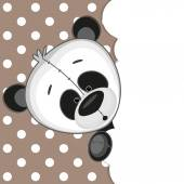 Panda peeking out — Stock Vector