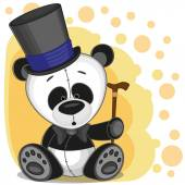 Panda in a hat — Stock Vector