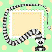 Panda in hat — Stock Vector