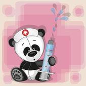 Cute Panda nurse — Vettoriale Stock